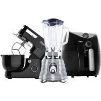 Kit Black Batedeira Fritadeira E Liquidificador Oster 220V