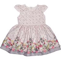 Vestido Para Bebê Barrado Pandinhas - Anjos Baby