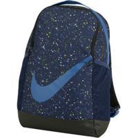 Mochila Nike Brasilia Aop - Infantil - 18 Litros - Azul Esc/Azul