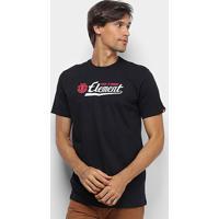 Camiseta Element Signature Masculina - Masculino-Preto