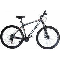 Bicicleta Trinx Obstale 2.0 Aro 29 Freio/Disc Susp 21V Kit Shimano Preto Com Cinza - Unissex