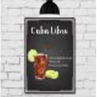 Placa Decorativa Mdf Receitas De Drink Cuba Libre 30X40