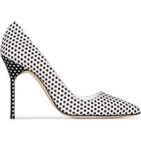 Manolo Blahnik Sapato Com Poás E Salto 105Mm - Branco