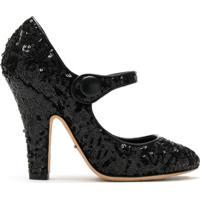 Dolce & Gabbana Sapato De Salto Micropaetes - Preto