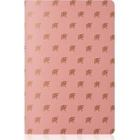 Caderno Pautado Capa Rf Dourado