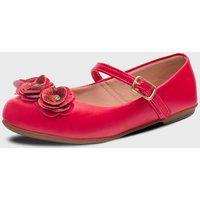 Sapatilha Pópidi Infantil Feminina Flores Vermelho