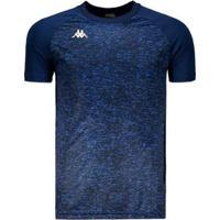 Camisa Kappa Matteo Masculina - Masculino-Azul