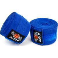 Bandagem Jugui Algodão Artes Marciais Boxe, Mma - Azul