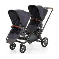 Carrinho De Bebê Para Gêmeos Zoom Style Street (6 Meses A 30Kg) Abc Design