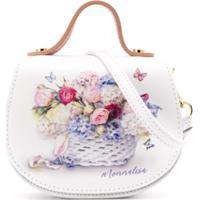 Monnalisa Bolsa Tiracolo Com Estampa Floral - Branco
