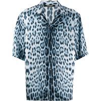 Roberto Cavalli Camisa Heritage Com Estampa De Jaguar - Azul
