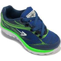 e1120b1a930 ... Tênis Infantil Box 200 Escolar Masculino - Masculino-Azul  Petróleo+Verde Limão