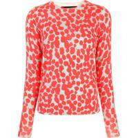 Proenza Schouler Blusa Decote Careca Com Poás De Lã Merino - Vermelho