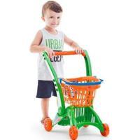 Carrinho Infantil De Mercado Imaginativa Super Mercadinho Calesita C210 - Unissex-Verde