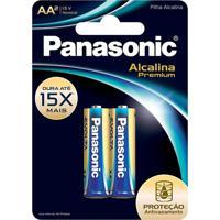 Pilha Panasonic Aa Alcalina Premium 1,5V 2 Unidades