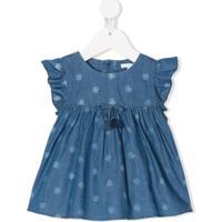 Chloé Kids Blusa Jeans Com Estampa Paisley - Azul