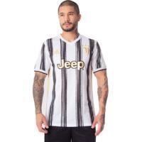 Camisa Masculina Adidas Juventus 1 20/21 Branco/Preto - G
