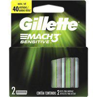 Carga Para Aparelho De Barbear Gillette Mach3 Sensitive Com 2 Unidades 2 Unidades