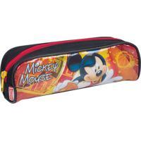 Estojo Mickey 16M | Cor: Preto/ Vermelho | Cor: Preto/ Vermelho