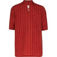 Nicholas Daley Camisa Moroccan Listrada - Vermelho