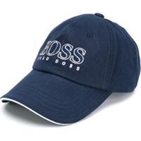 Boss Kids Boné Com Logo - Azul