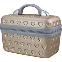 Frasqueira Love- Dourada Cinza- 29X23X17Cm- Jajacki Design
