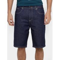 Bermuda Jeans Lacoste Relax Fit Reta Masculina - Masculino-Jeans