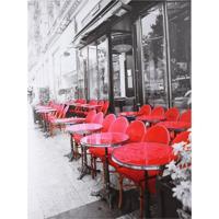 Quadro Caffe Mesas Vermelhas Fullway 80X60