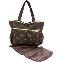 Bolsa Maternidade Jacki Design Mama & Me Feminina - Feminino-Marrom+Verde