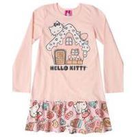 Camisola Manga Longa Bebê Hello Kitty - Feminino