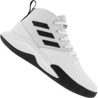 Tênis Cano Alto Adidas Own The Game - Masculino - Branco/Preto
