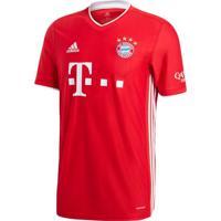 Camisa Masculina Adidas Bayern I 20/21 Vermelho - P