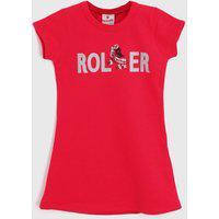 Vestido Brandili Infantil Roller Rosa