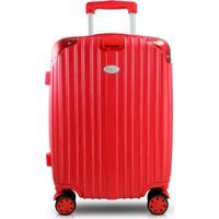 Mala De Viagem Pequena Bordo Abs Rígida Jacki Design 4 Rodinhas Giro 360 Vermelha