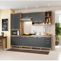 Cozinha Completa Multimóveis 5808 Sicília 5 Peças Argila E Grafite