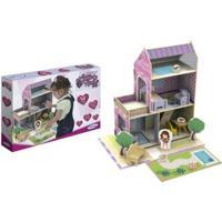 Casinha De Madeira Little House Verão 50 Peças - Unissex-Roxo