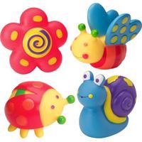 Brinquedos Para Banheira Bichos Jardim- Rosa & Azul-Ibimboo