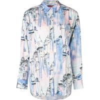 Sies Marjan Camisa Com Estampa City - Azul