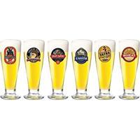 Conjunto Copos Cerveja Tulipa Happy Hour 315 Ml 6 Peças Ruvolo