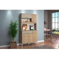 Cozinha Compacta 5 Portas Kit Magazin 90 Carvalho/Suede - Nicioli