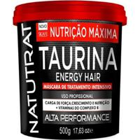 Máscara De Tratamento Intensivo Skafe Natutrat Taurina Energy Hair - 500G - Unissex-Incolor