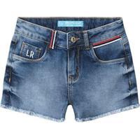 Short Jeans Com Bolsos- Azul Escurolilica Ripilica E Tigor T. Tigre