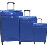 Kit Com 3 Malas Malas Cruzeiro Viagem Azul