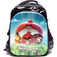 Mochila Santino Infantil Angry Birds Preta