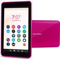 Tablet 7Pol. Quadcore 1Gb 8Gb Android 8.1 Go Rosa Everex
