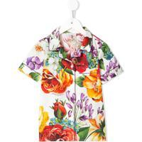 Dolce & Gabbana Kids Conjunto Camisa E Short Com Estampa Floral - Estampado