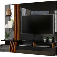 Home Suspenso Espelhado Bello Para Tv De Até 55'' - Preto Brilhante Com Demolição