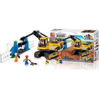 Blocos De Montar Construção Escavadeira 614 Peças Indicado Para +6 Anos Material Plástico Colorido Multikids - Br830 Br830
