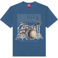 Camiseta Infantil Masculina Azul