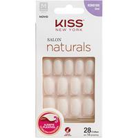 Unhas Postiças Naturais Kiss New York Salon Natural Medio Oval - Feminino-Incolor